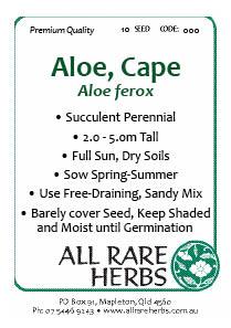 Aloe Cape seed