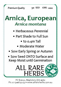 Arnica European seed
