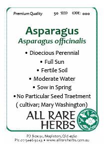 Asparagus seed