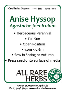 Anise Hyssop, seed