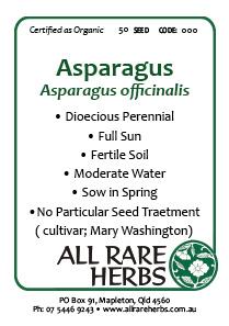 Asparagus, seed