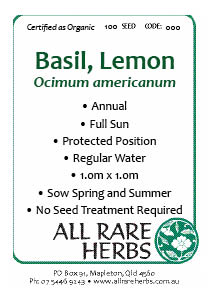 Basil, Lemon  seed