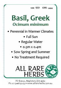 Basil, Greek seed