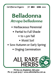 Belladonna, seed