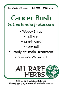 Cancer Bush, seed