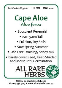 Aloe, Cape, seed