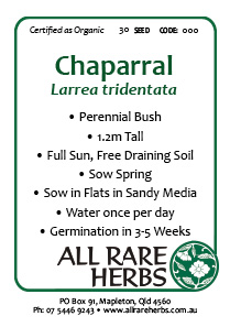 Chaparral, seed