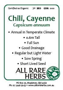 Chili, Cayenne, seed