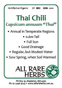 Chili, Thai, seed