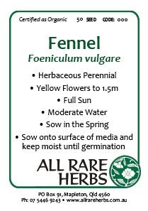 Fennel, Sweet  seed