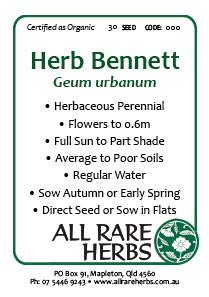 Herb Bennett, seed
