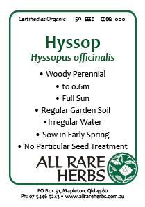 Hyssop, seed