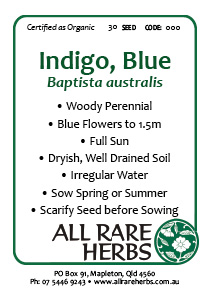 Indigo, Blue  seed