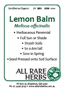 Lemon Balm, seed