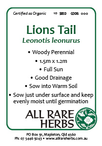 Lions Tail, seed