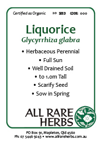 Liquorice, Official  seed
