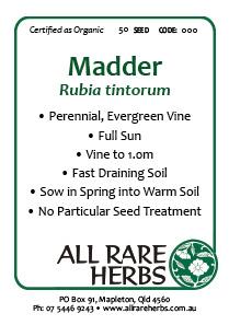 Madder, seed