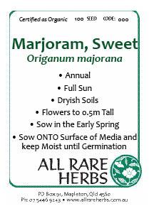 Marjoram, Sweet  seed