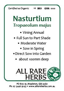 Nasturtium, seed