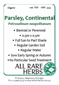 Parsley, Continental  seed