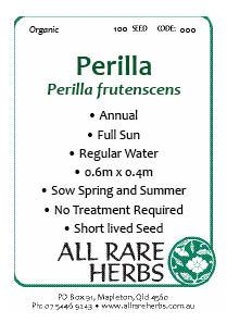 Perilla, seed