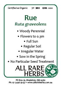 Rue, seed
