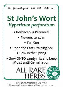 Saint Johns Wort Seed