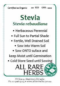 Stevia, seed
