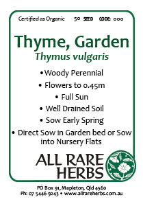 Thyme, Garden  seed
