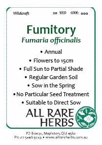 Fumitory, seed